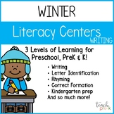 Winter Literacy Centers: Writing for Preschool, PreK, K & Homeschool