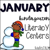 Winter {January} Literacy Centers for Kindergarten