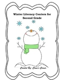 Winter Literacy Centers for Second Grade