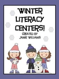 Winter Literacy Centers for grades 1-3: vocabulary, abc order, and vowels