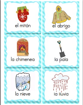 Winter Literacy Centers (spanish)