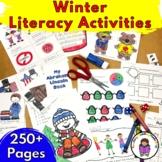 Winter Kindergarten Centers Activities and Worksheets - Literacy fun!
