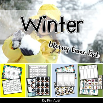 Winter Literacy Game Pack by Kim Adsit