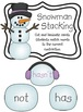Winter Literacy Games 1st Grade