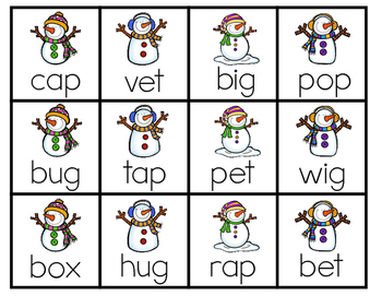 Winter Literacy Games for Small Group Instruction