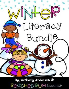 BUNDLE: Winter Literacy / Grammar / Language Arts Centers (8 Products)