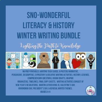 Writing Prompts for the Winter Season, No Prep (Grades 6-8)