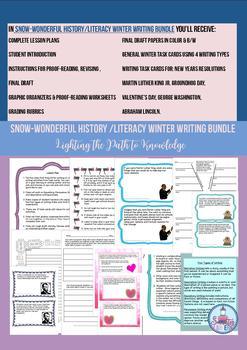Sno-Wonderful History/Literacy Winter Writing Bundle (6-8)