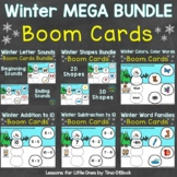 Winter Literacy & Math Boom Cards Digital Bundle