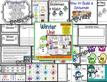 Winter Themed  Literacy & Math Bundle