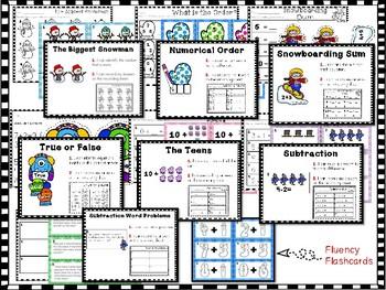 Winter Literacy & Math Center Bundle