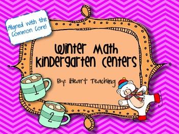 Winter Math Kindergarten Centers Common Core Aligned