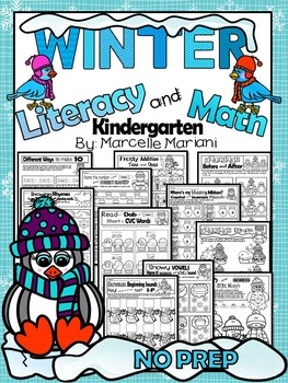 WINTER WORKSHEETS- 100+ Literacy & Math worksheets for win
