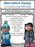 Winter Literacy NO PREP Narrative Essay Pack (CCSS Aligned 3-6)