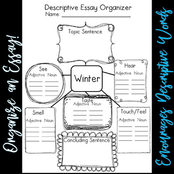 Winter Literacy NO PREP Descriptive Essay Pack  (CCSS Aligned 3-6)