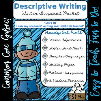 Winter Ela No Prep Descriptive Essay Pack Ccss Aligned   Tpt Winter Ela No Prep Descriptive Essay Pack Ccss Aligned