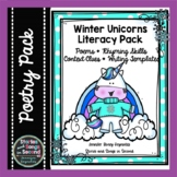 Winter Literacy Pack--Unicorn Poems