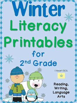 Winter Literacy Printables for 2nd Grade