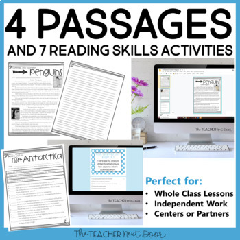 Winter Literacy Set for 4th - 5th Grade