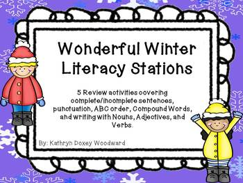 Winter Literacy Stations- 5 Common Core Aligned Stations