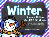 Winter Literacy Stations for 2nd/3rd