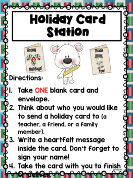 Winter Literacy Stations for the Library or the Classroom