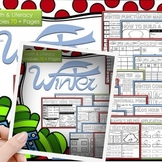 Winter Math and Literacy, Winter Activities (No Prep)