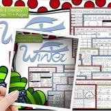 Winter Math and Literacy, Grammar, Worksheets and Activiti
