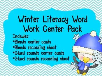 Winter Literacy Word Work Center Pack