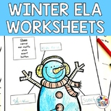 Winter Literacy ELA Worksheets