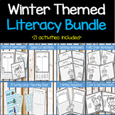 NO PREP Winter Literacy Worksheets and Activities  (21 in all)