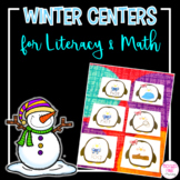 Kindergarten Winter Centers for Literacy and Math