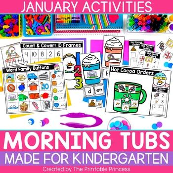 January Morning Tubs for Kindergarten
