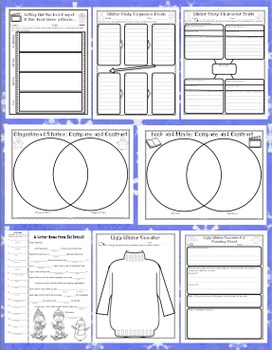 3rd grade winter activities winter literacy and math 3rd. Black Bedroom Furniture Sets. Home Design Ideas