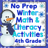 4th Grade Winter Activities - Winter Literacy and Math 4th Grade