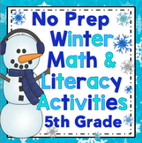 5th Grade Winter Activities - Winter Literacy and Math 5th Grade