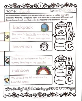 Winter Literacy and Math Activity Sheets
