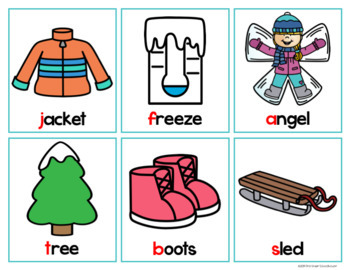 Winter Literacy and Math Centers Bundle