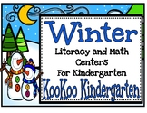 Winter Literacy and Math Centers for Kindergarten