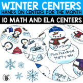 Winter Literacy and Math Center Bundle for Second Grade