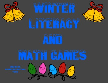 Winter Literacy and Math Games