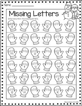 Winter Literacy and Math Printables (Grade 1)