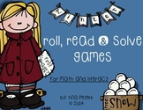Winter! Literacy and Math Roll, Read and Solve Games ~ First Grade