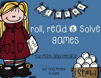 Winter! Literacy and Math Roll, Read and Solve Games ~ Fir