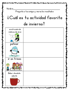 Winter Literacy and Math themed packet in English and Spanish!