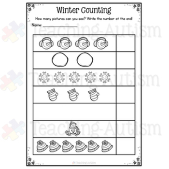 Winter Math and ELA Worksheets No Prep