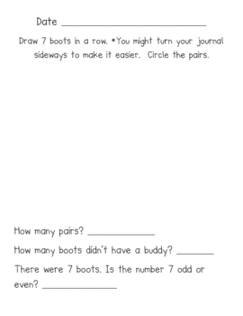 Winter Literacy-based Math Journal Add, Subtract, Patterning & More!