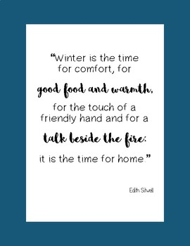 Winter Literary Poster Set
