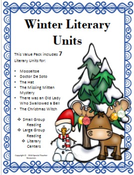 Winter Literary Unit Bundle: Includes Resources for 7 Books