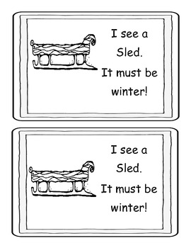 Winter Little Book-pictures and words